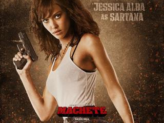 обои Джессика альба с пистолетом фото