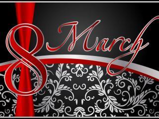 обои Восьмое марта на темном фоне фото