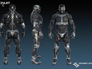 обои Crysis 2,   нанокостюм в разных ракурсах фото