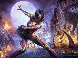 обои Mortal kombat,   milena оторвала голову фото