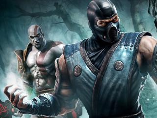 обои Mortal kombat,   супер бойцы фото