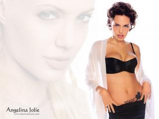 обои Татуировка Джоли фото