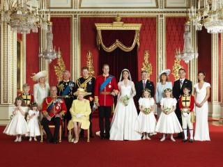 обои для рабочего стола: Семейный портрет на свадьбе принца уэльского