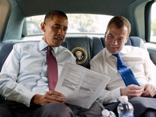 обои Президенты обама и медведев фото
