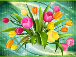 обои Векторные тюльпаны фото