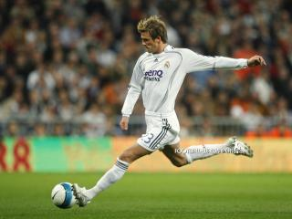 обои Beckham and Real Madrid фото