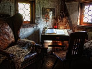 обои Старинный интерьер кабинета фото