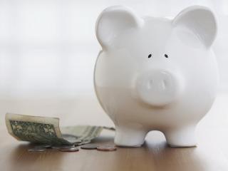 обои Копилка свинка и деньги фото