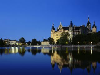 обои Замок,  Шверин,  Германия фото
