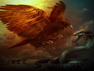 обои Битва орла и змеи фото