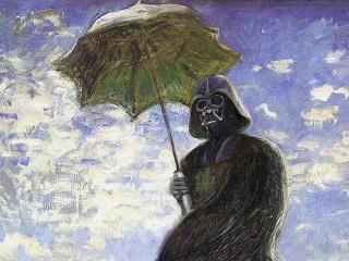 обои Вейдер под зонтиком фото