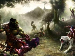 обои Война эльфов и орков фото