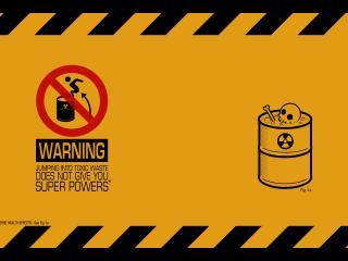 обои Предупреждение о токсических отходах фото