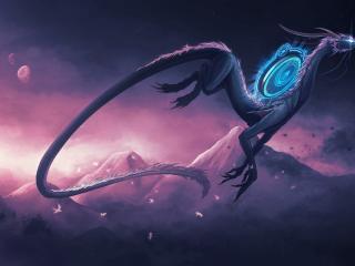 обои Грациозный дракон фото