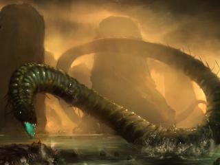обои Чудовищный морской змей фото