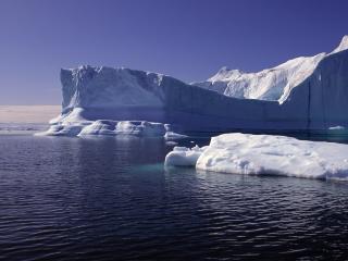 обои Многотонные глыбы льда фото