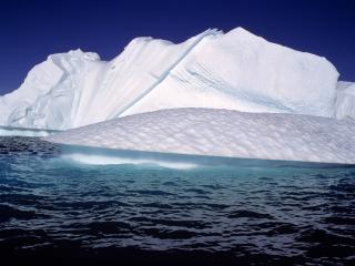 обои Разность форм дрейфующих льдин фото