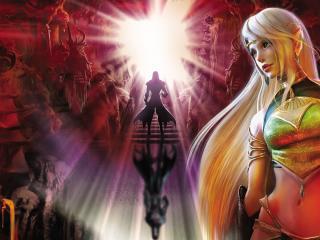 обои Девушка эльфийка с светлыми волосами фото