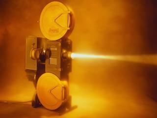 обои Луч кинопроектора фото