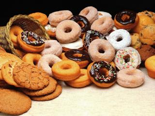 обои Много печенья и кексов фото