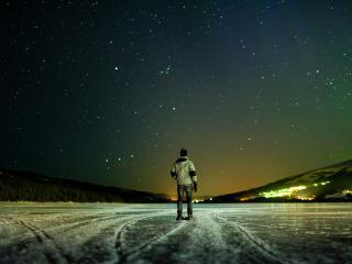обои Ночь на льду фото