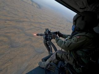 обои Обстрел с вертолета фото