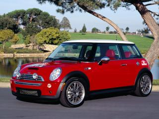 обои Hot Red Mini Cooper фото