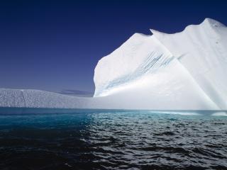обои Белый снежный айсберг фото