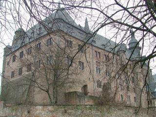 обои Вид здания сквозь ветки деревьев фото