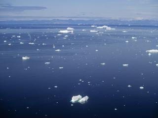 обои Куски льда на воде фото
