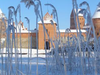 обои Вид крепости зимой фото
