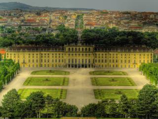 обои Вид палаца с птичьего полета фото
