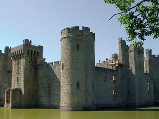 обои Старинная крепость на воде фото