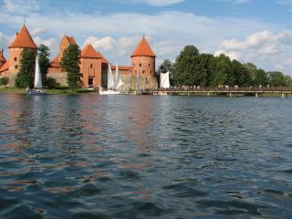 обои Тракайский замок в литве фото
