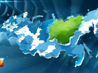 обои Карта регионов Российской федерации фото