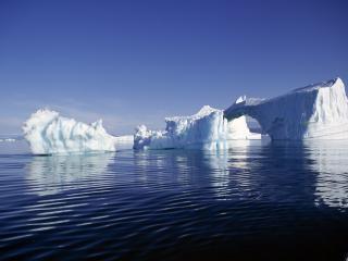 обои Рябь воды и ледяные глыбы фото