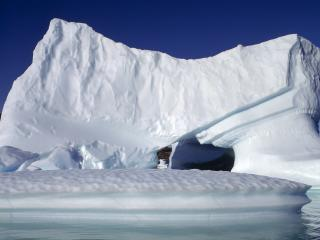 обои Снежные монолиты айсберга фото