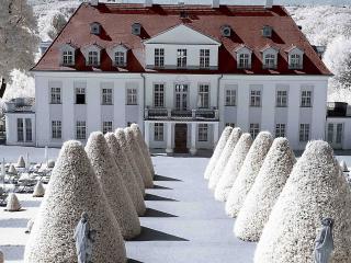 обои Красивый белый дворец фото