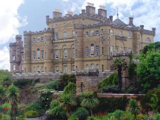 обои Красивый замок окруженный зеленью фото