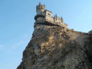 обои Старая крепость на скале фото