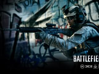 обои Игра Battlefield 3 солдат с автоматом фото