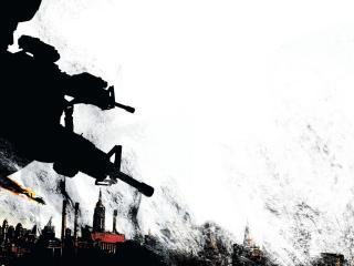 обои Солдаты в городе фото
