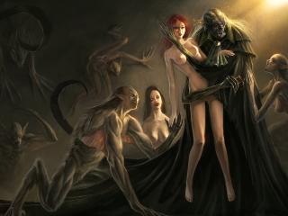 обои Девушка жертва вампиров фото