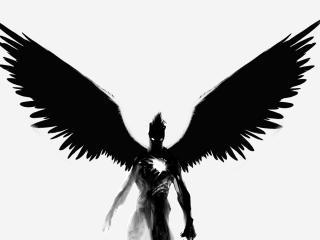 обои Демон черный ангел фото