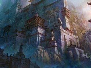 обои Древний город в китайском стиле фото