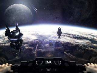обои За рулем космического челнока фото