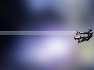 обои Dead space айзек со световой пушкой фото