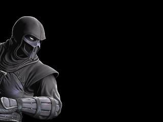 обои Mortal kombat,   боец на черном фоне фото