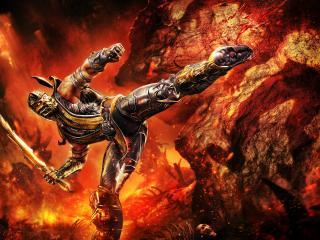 обои Mortal kombat,   боец скорпион фото