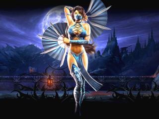 обои Mortal kombat,   девушка с боевыми веерами фото